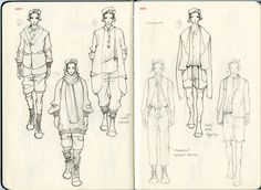Menswear Sketchbook 2 by Unknown Fashion Portfolio Layout, Technical Illustration, Industrial Revolution, Sketch Design, Fashion Sketches, Journal Ideas, Mood Boards, Sketching, Behance