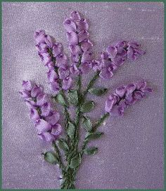 Silk Ribbon Embroidery: Tutorial - Lavender