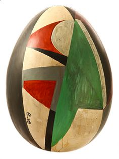 Razzle Dazzle Egg 13 by Billy Childish | The Big Egg Hunt