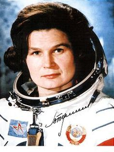 Valentina Tereshkova, Russian cosmonaut and first woman to have flown in space.
