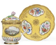 A Meissen Yellow-Ground Cup, Cover and Stand,   http://www.christies.com/lotfinder/lot/a-meissen-yellow-ground-cup-cover-and-mid-19th-5588229-details.aspx?from=salesummary=3=5588229=e4d36863-1d8e-4b4f-849d-c21aee8ad56d=10