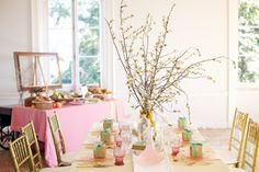 branch centerpieces for spring