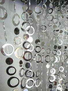 3 ft x 6 ft Hip Circle Beaded Curtain - Room Divider - Silver by BalsaCircle. $29.99