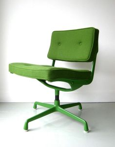 Oh the perfect office chair - had to be an Eames!!!!!! Charles and Ray Eames; #ES102 Painted Aluminum Chair for Herman Miller, c1970.