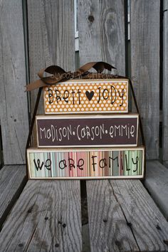 """We are family"" blocks"