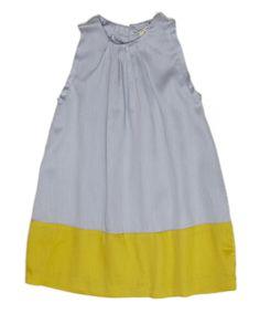 Image of bubble dress-steel/ochre