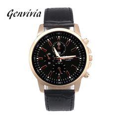 26b027e9d40 Fashion Watch 2017 New Lovers' Leather Quartz Luxury Watches Women Men  Analog Dial Sport WristWatch