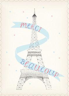 A polite Eiffel Tower
