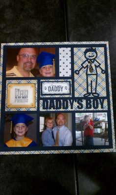 Father's Day - Come in to Archivers and make this page cut out for you on the Cameo. They can do Daddy's Girl as well. Frame it and give as s Father's Day gift. #Archivers