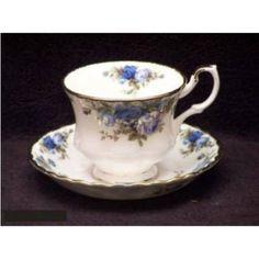 Royal Albert IMOORO04698 Moonlight Rose 6.5 Oz Teacup and Saucer