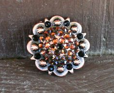 """Crystal Conchos """"Pretty Penny"""" for Horse Tack, Saddles, Headstalls, Breast Collars, Jewelry on Etsy, $10.00"""