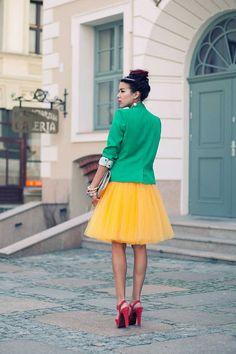 Melon tulle skirt Handmade tutu skirt Adult tulle by Fanfaronada