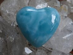 Larimar heart CalmingSoothingFeminine power by MagicaLuna on Etsy