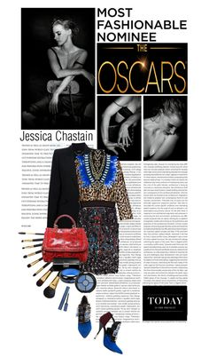 """Jessica Chastain"" by leilagoncalves ❤ liked on Polyvore"
