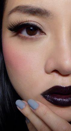 Gothic Romance  http://makeupbox.tumblr.com/post/14400737570/modern-gothic-romance-black-purple-lips-with