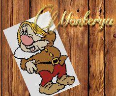 Gnome Disney pattern for cross stitch download PDF by Monterya