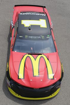 Jamie McMurray, driver of the McDonald's Chevrolet, drives through the garage area during practice for the Monster Energy NASCAR Cup Series Firekeepers Casino 400 at Michigan International Speedway on June 2018 in Brooklyn, Michigan. Nascar Race Cars, Nascar Sprint Cup, Jamie Mcmurray, Racing Car Design, Monster Energy Nascar, Nascar Diecast, American Racing, Vintage Race Car, Brooklyn Michigan