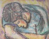 A Moment of Reflection - Oil Pastel