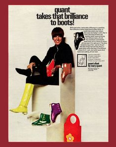 Mary Quant Afoot Boots ad, 1960's.
