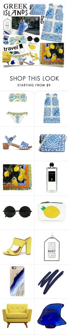 """""""I'd love to visit Greece one day!"""" by lseed87 ❤ liked on Polyvore featuring Dolce&Gabbana, Serge Lutens, Hayden-Harnett, X2B, Casetify, By Terry, Steel 