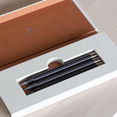 Set of 3 Pencil refills for the Graf von Faber Castell Magnum Perfect Pencil feature a finely fluted black surface & black threaded end for the eraser refill Graf Von Faber Castell, Pencil Eraser, Hand Type, Black Thread, Wood Trim, Creativity, Instagram, Wood Molding, Wooden Panelling