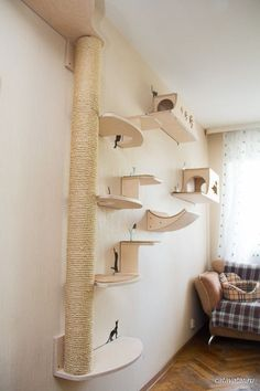 70 Brilliant DIY Cat Playground Design Ideas Your beloved cat definitely needs a. - 70 Brilliant DIY Cat Playground Design Ideas Your beloved cat definitely needs a place to play! Cat Playground, Playground Design, Cage Chat, Diy Cat Tree, Cat Trees, Cat Wall Furniture, Furniture Stores, Cheap Furniture, Cat Wall Shelves