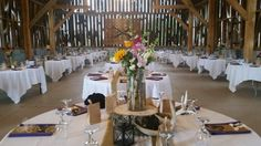 Reception Table Settings, Reception, Barn, Table Decorations, Furniture, Home Decor, Converted Barn, Decoration Home, Room Decor