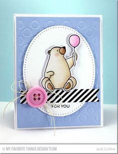 Featuring: BB Birthday Bears, BB Birthday Bears Die-namics, Cross Stitch Oval STAX Die-namics and Polka Dot Cover Up Die-namics!