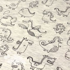 Jersey dragon chiné écru - Mercerie de l'Etoile de Coton