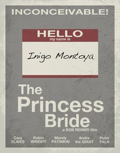 The Princess Bride Minimalist Movie Poster  -EntropyTradingCo on etsy-