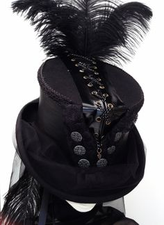 Gothic Steampunk chain corset riding top hat 819f61a4d77