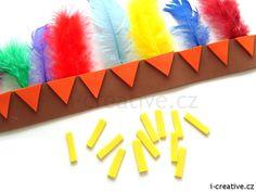 Návod na indiánskou čelenku z moosgummi a barevných per