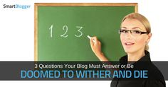 You may not realize it, but new visitors to your blog want to know three things. And if they can't find (or don't like) the answers, they'll leave.