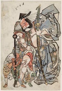 Asahina and Demons / Unknown  朝比奈と鬼 絵師不明 年代不詳