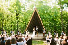 wedding at a summer boy scout camp :)