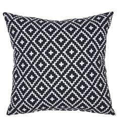 "18"" Throw Pillow - Crinkled Diamond Black - Threshold™ : Target"