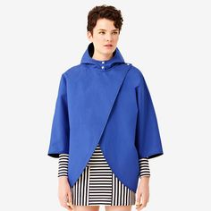 Reversible Cape in Blue/Black design inspiration on Fab.
