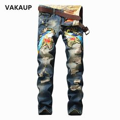 """http://fashiongarments.biz/products/mens-autumn-jean-men-winter-hole-designer-homme-brand-bird-embroidery-classic-elasticity-slim-biker-jeans-denim-pants-trousers/,    USD 58.00/pieceUSD 59.00/pieceUSD 59.00/pieceUSD 69.00/pieceUSD 59.00/pieceUSD 58.00/pieceUSD 59.00/pieceUSD 59.00/piece   The item don't include belt.   Note: Asian Size: cm 1cm = 0.39 """"lnch  there can be 2-3cm differences.   Colour may little vary due to different display setting.  Note: ...,   , fashion garments store with…"""