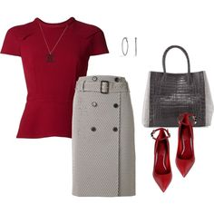 """""""Red Black and White !!!"""" by stylesbypdc on Polyvore"""