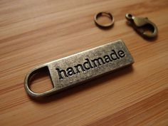 Handmade Silver Nickel / Antique Brass Metal Zipper Pull - Bag Bling - Bag and Purse Hardware by LoveEllieBagMaking Find it now at http://ift.tt/2gkRNa7!
