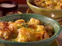 And italian twist to french onion!!!   Onion Soup with Fontina and Thyme from CookingChannelTV.com
