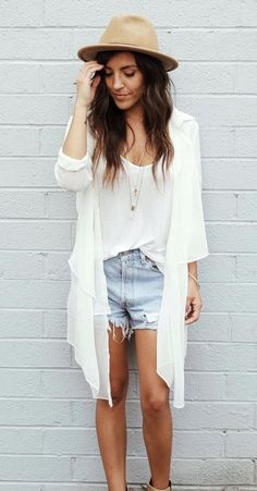 Shifted Button Up – White