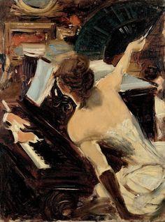 The Mondona Singer circa 1884 Giovanni Boldini