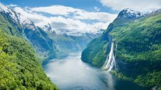 Seven Sisters Waterfall, Sailing through the Fjords of Geiranger, Norway