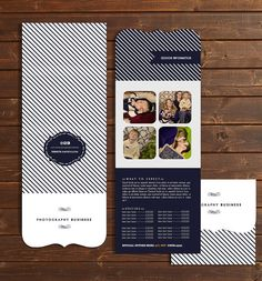 Nautical specialty shaped brochure template. $16.99, via Etsy.