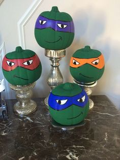 Teenage mutant ninja turtle pumpkin heads! | Halloween