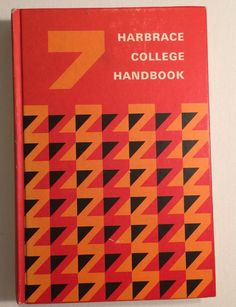 VINTAGE 1970s 7th Edition Mid Century HARBRACE COLLEGE HANDBOOK 1972