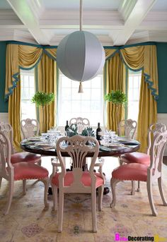 Spring Decorating - Easter Colors - Pink Dining Chairs - So Fabulous!!