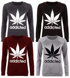 New Ladies Womens Pullover Printed Sweatshirts TOP T-Shirt Celebrity Jumper 8-14