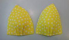 Life of a Fairy Bra Mother: Yellow Polka Dot Bikini...Cup Covers